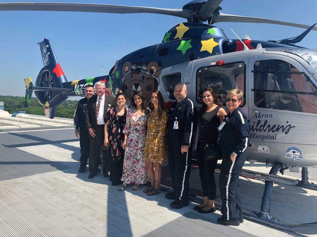 JP Recovery Team with Akron Children's Hospital Helicoptor